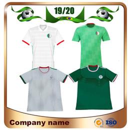 Equipes de football en Ligne-2019 Algeria Soccer Maillot 19/20 Domicile Blanc # 7 MAHREZ # 10 FEGHOULI Maillot de Football Maillot National Extérieur Extérieur Football Football Uniformes