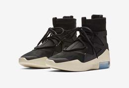 sapatos esportivos de cor preta Desconto Nova Cor Medo de Deus 1 Homens Sapatos Botas de NEVOEIRO Designer de basquete sapatos de Osso Leve Preto Vela Sapatos de Basquete Esportes Zoom Mens Sneakers