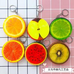 2019 frucht keychains 10pcs pro Los Squishy Spielwaren der Frucht keychains Wassermelonenzitrone orange squishy Spielwaren keychains Großhandelsgeschenke rabatt frucht keychains
