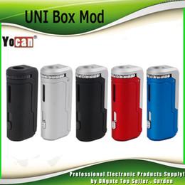 Ecig caixa de bateria mod on-line-Original Yocan UNI Caixa Mod 650 mAh Pré-aqueça Bateria VV Para 510 Espessura Óleo Vape Cartuchos de Pré-aquecimento Ecig Mod 100% Autêntico