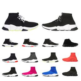 2019 designer socken männer frauen turnschuhe mode schuhe schwarz weiß rot glitter grün rosa flache herren trainer runner freizeitschuh größe vkp684 m
