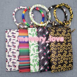 Wholesale bracciali girasole con portamonete arcobaleno bracciali toroidale con portafogli donna pochette moda con bracciali
