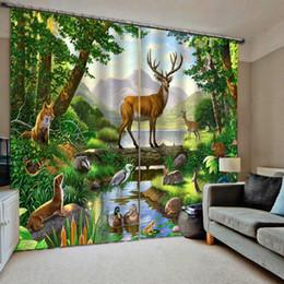 оптовая соломенная нить Скидка шторы для животных зеленые занавески гостиная спальня декор 2 панели крючки оконные шторы плотные шторы