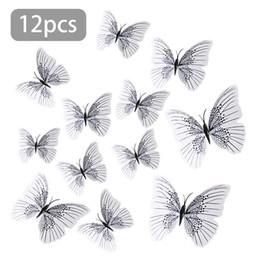 12pcs 3d adesivi murali farfalla decalcomania della decorazione di arte magnete frigo decorazione della finestra di casa decorazione esterna giardinaggio decorazione cheap garden decorations butterflies da farfalle decorazioni da giardino fornitori