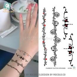 tatuajes femeninos de la muñeca Rebajas Diaria venta caliente modelos femeninos impermeable muñeca tatuaje pegatinas ratán flor tatoo Japón Harajuku serie viento