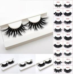 Olhos longos cílios on-line-44 estilos 5d vison cabelo 25mm cílios postiços grosso longo desarrumado cruz olho cílios extensão maquiagem dos olhos ferramentas