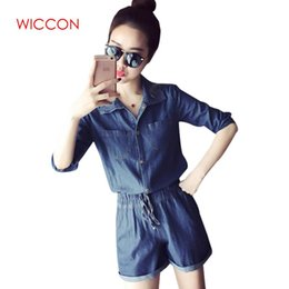 4cad472b9845 2019 Denim Jumpsuit Girls Women Jeans Playsuit Elastic Waist Sashes With Pockets  Rompers Overalls Plus Size Macacao macacao jeans on sale