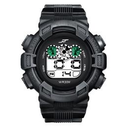 мужские спортивные цифровые светодиодные часы Скидка Mens Sports Watch LED DigitalDate Alarm Rubber Sports Army Watch Wristwatch reloj digital hombre relogio 2018
