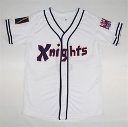 HOT New York Knights The Natural # 9 Рой Хоббс Белый черный фильм Бейсбол Трикотажные изделия Рубашки Роя Хоббса 1939 100-й бейсбольный патч столетнего юбилея от Поставщики оптовые спортивные куртки