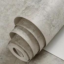 Papel de parede cinzento claro afligido Estilo de gesso Papel de parede do sotão do vintage Efeito de cimento Wallcoverings concreto de Fornecedores de papel de parede lavável cozinha