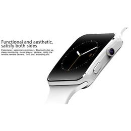 Bluetooth X6 Smart Watch Мужчины с сенсорным экраном камеры наручные Smartch часы для Android IOS Телефон Спорт Smartwatch Женщины Sim Card от