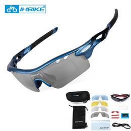 dfe59cb210 INBIKE Gafas de Ciclismo Polarizadas 5 Lentes MTB Gafas de Deporte Al Aire  Libre Gafas Hombres Mujeres Correr Conduciendo gafas de Sol de Bicicleta #  69793