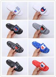 Mejores zapatos para el verano online-Champ 2019 Chanclas Zapatillas de moda para hombre, mujer, hombre, verano, playa, negro, zapatillas de playa, sandalias casuales, zapatos de la mejor calidad, con marcas de calzado, tamaño 36-45