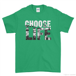 b59863ece City Choose Life Retro 80s T Shirt fancy dress Funny Quote Men T Shirt Top  Tee