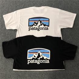 Дизайнерские футболки для мужчин онлайн-Patagonia Summer T Shirts Patagonia Mountain Дизайнерская Футболка Хип-Хоп с Короткими Рукавами Мужчины Женщины Высокого Качества Дизайнерская Рубашка Тройники Размер S-2XL