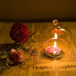 Оптовая продажа висит стекло чай свет подсвечники стеклянный глобус подсвечник для свадьбы главная Рождество декор от