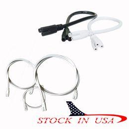 clip de socket Rebajas Cable de conector de tubo LED T5 Adaptador de enchufe de lavadora Enchufe Cable y clip de Ascelina V Shape LED