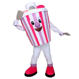 Eiscreme-maskottchen online-Ice Cream Maskottchen Kostüm Schöne bunte Eis Cospaly Cartoon Charakter erwachsene Halloween-Party Kostüm Karneval Kostüm