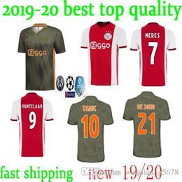 dacdf0c4a9d Ajax home red white Soccer Jerseys 19 20 Ajax away Soccer Shirt 2020  10  TADIC  21 DE JONG  25 DOLBERG  22 ZIYEC football uniform men