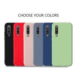 teléfono celular de cuerpo completo Rebajas Cajas del teléfono celular de goma gel de silicona líquida de cuerpo completo para One Plus 7 Samsung Galaxy S10 Funda suave para Huawei P30 Pro Xiaomi 9 Samsung
