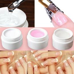 3 Farboptionen Rosa Weiß Klar Transparent UV Gel Builder Nail Art Tipps Gel Nagel Maniküre Extension Nail Gel Extension Sticker von Fabrikanten