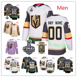 2019 nomi pietre Custom Vegas Golden Knights 2018 Stanley Cup Grigio Bianco Qualsiasi numero Nome Fleury Pacioretty Reaves Tuch Eakin Mark Stone # 17 Maglie inaugurali nomi pietre economici