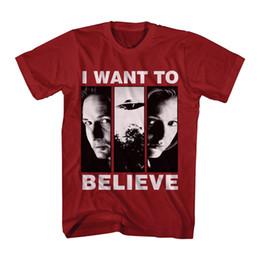 Gratuit x tv en Ligne-Le X Fichiers Science Fiction TV Mulder Scully Je Veux Croire Adulte T-shirt Drôle Livraison Gratuite Unisexe Casual T-shirt Haut