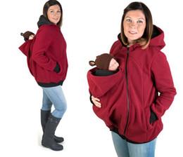 Ropa de maternidad Portador de bebé Chaqueta Casual Maternidad Sudaderas con capucha Canguro de invierno Sudaderas con capucha Calentamiento Ropa de embarazo multifuncional desde fabricantes