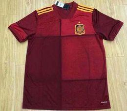 2019 футбольные майки 2019 Испания Футбол Джерси главная 1920 camiseta de fútbol SERGIO A. Иньеста Коке Рамос Иско национальная команда футбольная форма рубашки дешево футбольные майки