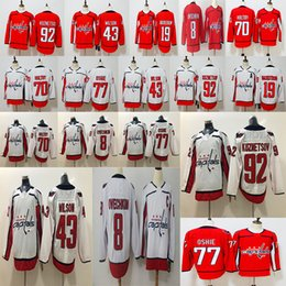 2018 Stanley Cup Champions 8 Alex Ovechkin 43 Tom Wilson 77 T.J. Oshie 19  Nicklas Backstrom 70 Braden Holtby 92 Kuznetsov Hockey Jersey ac0e118b0