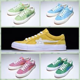 Wholesale Converse One StarxGolfs LeFleurs TTCS Zapatillas de lona para hombre Woemn Designer One Star Ox Tyler the Creator Golf Le Fleur Jade Lime Green Skater Sneakers Zapatos casuale