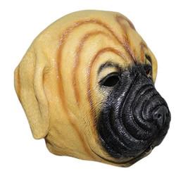 TESTA COMPLETA In Lattice Realistica CASA PET PUG DOG Fancy Dress Up Party Carnevale Maschera