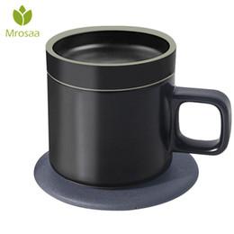 Taza de calor eléctrico online-55 grados 250 ml Calefacción eléctrica inteligente Tazas de café Carga inalámbrica Janpan Cerámica original Aislamiento Taza de café Regalo superior J190716
