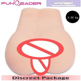 Argentina 2,55 kg silicón realista de la vagina muñecas del sexo: Hombre Masturbador, realista chica coño juguetes sexuales Gran Culo Porno DHL de envío Suministro