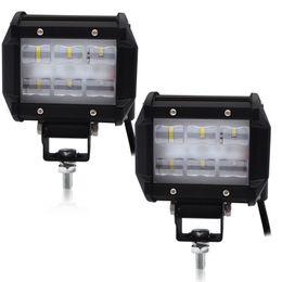 Canada En gros 3,68 pouces 18W Flood LED barre de lumière de conduite ampoule de feux de brouillard 4x4 a mené la lumière de travail pour camion tout-terrain SUV lampe de conduite 12V 24V cheap wholesale flood light bulbs Offre