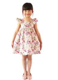 Deutschland Mädchen KLEID rosa Blumenmädchen Strandkleid niedlichen Baby Sommer Backless Halfter Kleid Kinder Vintage Blumen Kleider australische Muster Kleidung Versorgung