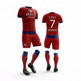 Costume feito uniforme on-line-2019 Uniforme da equipe de futebol Uniforme feito sob encomenda original do futebol Faça seu projeto Jersey de futebol Crianças Jersey de futebol
