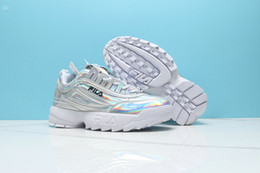Sapatos para mulheres on-line-Original FILA Disruptors II 2 2019 Melhor Qualidade da Moda Sapatos Casuais Disruptores Baixos 2 II Mulheres Sawtooth Senhoras Fundo Grosso Lace up Sneaker Sapatos de Caminhada