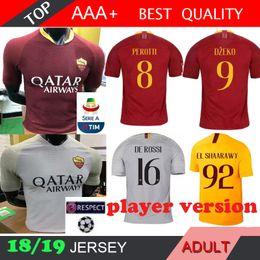 Canada Version de joueur 2019 AS Roma maillots de football supplier el red Offre