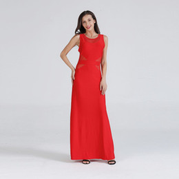 2019 ver mulheres calças Alta Qualidade Mulheres Moda See-through Vestido Sexy Red Dress Cinturão Corpete Noite Cintura Velocidade Apertado Elegante one piece-Vestido Elegante desconto ver mulheres calças