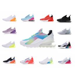 scarpe da ginnastica in primavera Sconti 2019 Nike Air Max 270 Trasporto libero Top qualità traspirante Uomo Sneakers donna classico scarpe da corsa bianco nero arcobaleno primavera autunno bassa cima