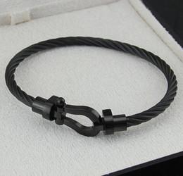 Deutschland Hufeisen Magnet Schnalle Stahl Wir Armband Mode neue Männer Frauen Fred Titan Stahl Roségold Armband Versorgung