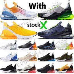 Stella scarpe sportive online-2019 New 270 Uomo Donna Scarpe da corsa Tiger Triple Nero Bianco Road Star BHM Iron Designer Sneakers sportive 36-45