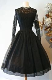2020 черные белые свадебные платья 2019 a-line черный готический короткие свадебные платья с длинными рукавами кружева Винтаж чай длина неформальный прием свадебное платье не белый дешево черные белые свадебные платья