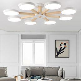 Macaron Accesorios de luz de techo para la sala de estar moderna sala de estar dormitorio decoración del hogar lámpara de interior arte creativo madera hierro -I87 desde fabricantes