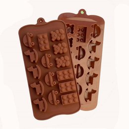 bear shaped chocolate Coupons - High quality Little Bear, Cockhorse, Car Shaped Chocolate Mold Food Grade Silicone Chocolate Mold Silicone Ice Trays Mould