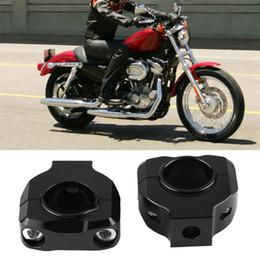 morsetti per motocicli Sconti Lega di alluminio universale del motociclo manubrio morsetto Lifter Bar Riser For All moto con 28 mm (1 / 8inch) manubrio