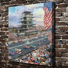 2019 thomas kinkade öl Thomas Kinkade, Indianapolis Motor Speedway, 1 Stück Leinwand Wandkunst Ölgemälde Home Decor (ungerahmt / gerahmt) 20x24. rabatt thomas kinkade öl