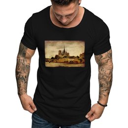 wholesale paris fashion Coupons - New Notre Dame de Paris 3D Printed T-shirts Men Fashion Summer Short Sleeve T shirts 2019 Hot Sale Casual Streetwear Clothes #40
