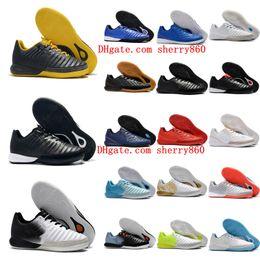Barato futebol indoor sapatos on-line-2018 chuteiras de futebol dos homens TimpoX Finale IC original chuteiras de futebol macio terreno botas baratos Tiempo Legend VII MD Indoor Novo